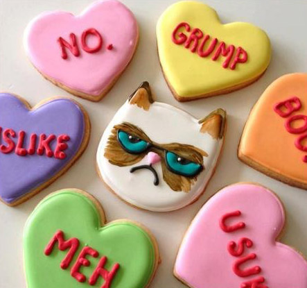 Grumpy Cat Valentineu0027s Day Cookies