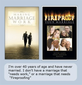 Church postcards: Making Marriage Work, Fireproofing Your Marriage