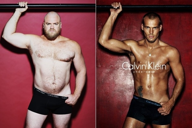 Rergular Guy Compared to Male Model