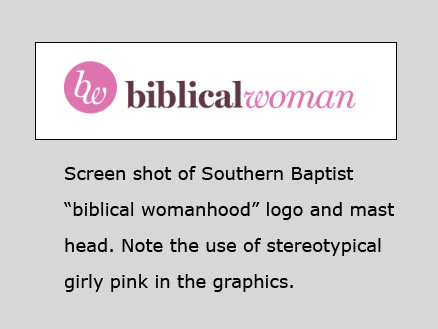Biblical Womanhood mast head screen shot