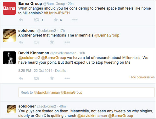 October 23, 2014 Barna Group Tweets