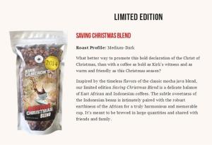 Screen capture from Kirk Cameron's Saving Christmas Coffee Site