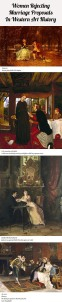 Women in Art Rejecting Marriage Proposals